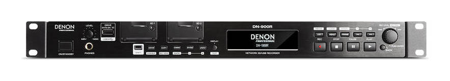 Denon Professional DN-900R / Dante 2x2インターフェイス搭載 ネットワーク SD/USB オーディオレコーダー【送料無料】【smtb-TK】