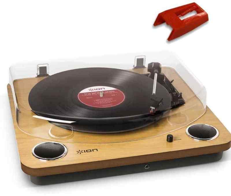 【送料無料】ION AUDIO MAX LP/純正交換針(1個)セット スピーカー搭載オールインワンUSB レコードプレーヤー ターンテーブル【smtb-TK】