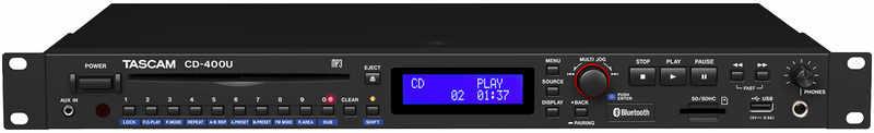 【送料無料】タスカム TASCAM CD-400U Bluetooth/AM・FMチューナー搭載CD/SD/USBプレーヤー【smtb-TK】