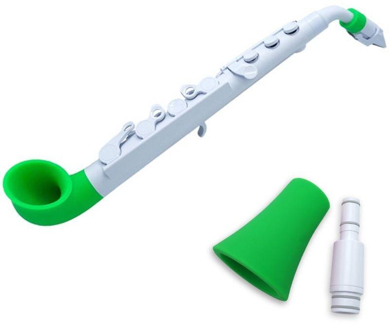 【送料無料】NUVO jSAX+ストレートベル ホワイト/グリーン N510JWGN+N515SWGN プラスチック製 サックス+ストレートベル【smtb-TK】