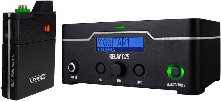 【特典付】【送料無料】ラインシックス Line6 Relay G75 アンプの上に設置できるタイプ ギター/ベース用デジタル・ワイヤレス・システム【smtb-TK】