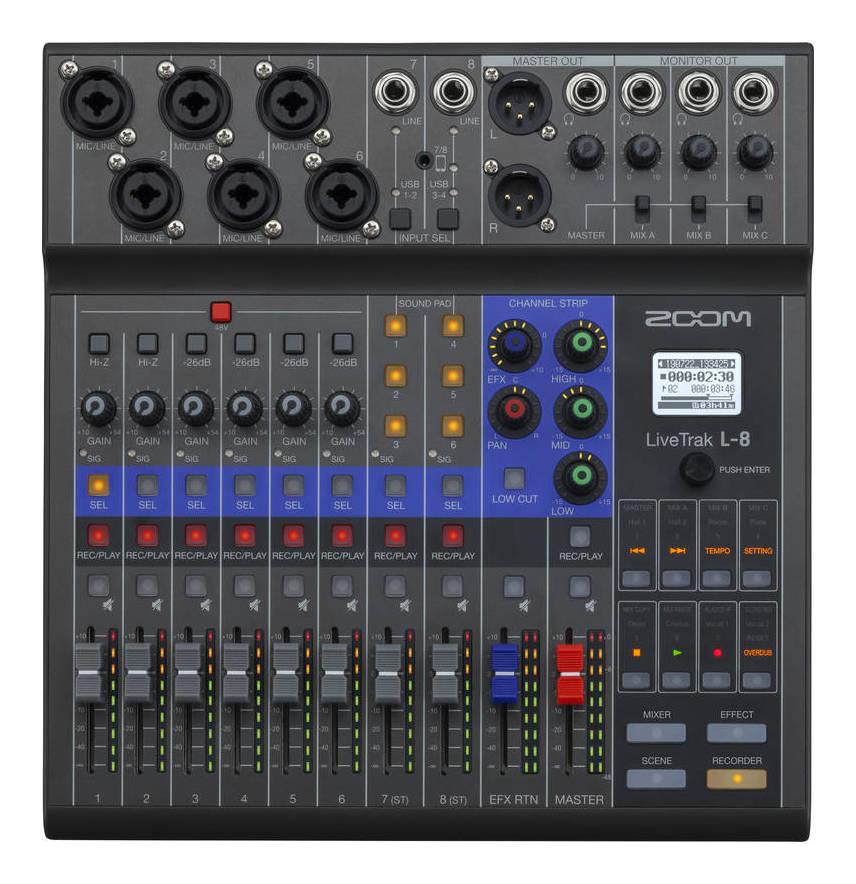 ZOOM LiveTrak 高級 L-8 ポッドキャストに ミュージックにライブミキサー smtb-TK 送料無料 レコーダー 宅配便送料無料