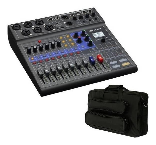 ZOOM 新作送料無料 LiveTrak L-8 大きめ汎用ギグケース EFS40付 ミュージックにライブミキサー 送料無料 ポッドキャストに レコーダー smtb-TK お得クーポン発行中