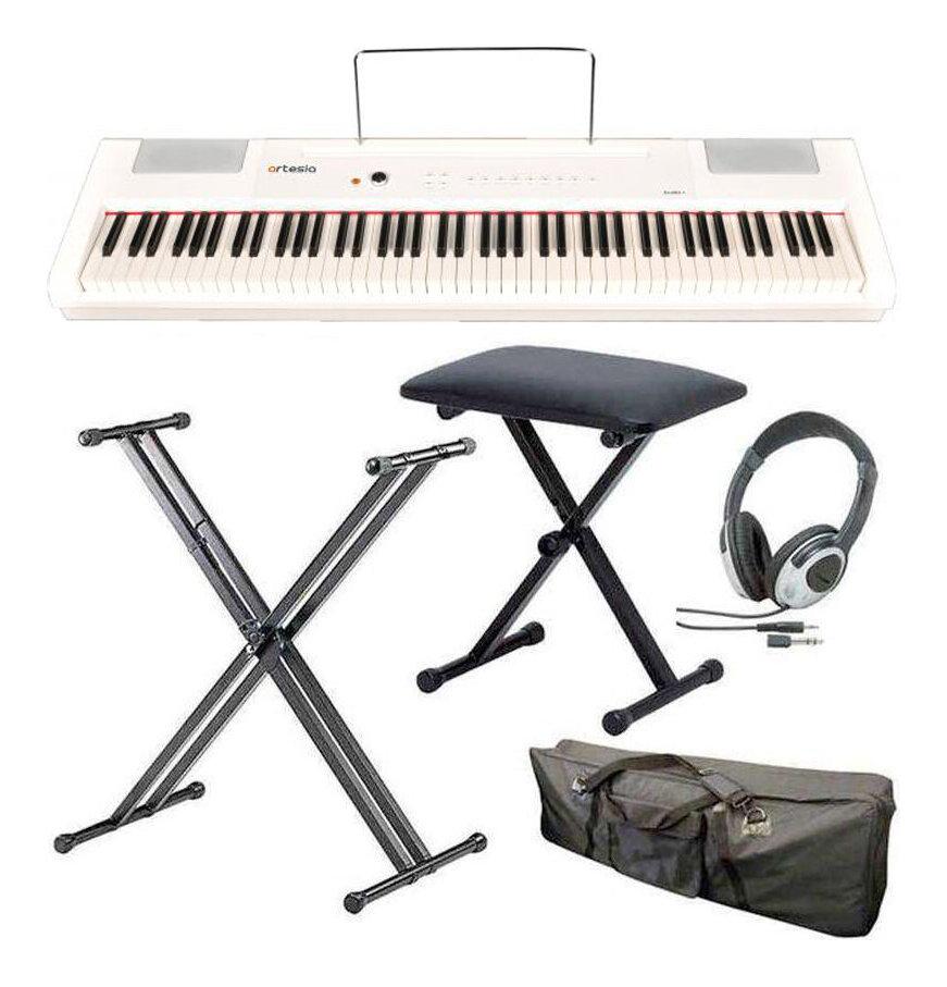 artesia PA-88H+/WH/スタンド+ヘッドホン+イス+ケース付 電子ピアノ ハンマー・アクション鍵盤 デジタルピアノ(白)【送料無料】【smtb-TK】