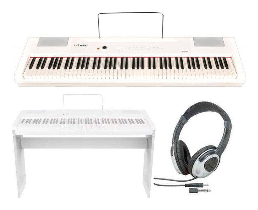 artesia PA-88H+/WH/専用スタンド+ヘッドホン付 電子ピアノ ハンマー・アクション鍵盤 デジタルピアノ(白)【送料無料】【smtb-TK】