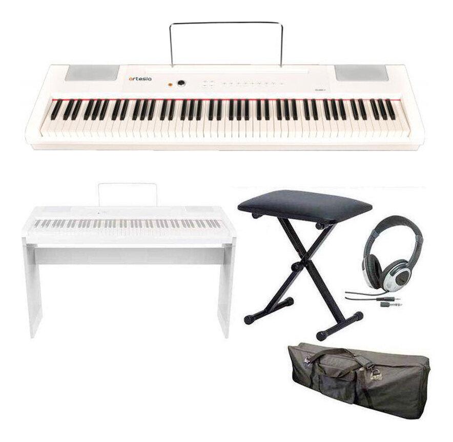 artesia PA-88H+/WH/専用スタンド+ヘッドホン+イス+ケース付 電子ピアノ ハンマー・アクション鍵盤 デジタルピアノ(白)【送料無料】【smtb-TK】