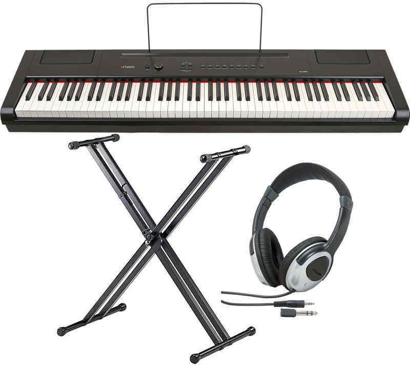 【送料無料】artesia PA-88W/スタンド+ヘッドホン付 電子ピアノ セミ・ウエイト鍵盤 デジタルピアノ【smtb-TK】