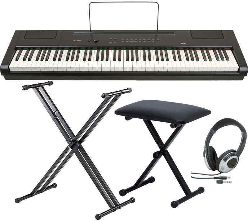 【送料無料】artesia PA-88W/スタンド+ヘッドホン+イス付 電子ピアノ セミ・ウエイト鍵盤 デジタルピアノ【smtb-TK】