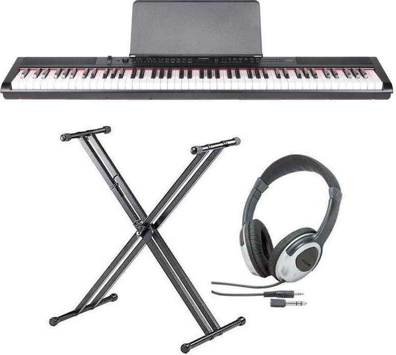 【送料無料】artesia PE-88/スタンド+ヘッドホン付 ステージ・ピアノ セミ・ウエイト鍵盤 デジタルピアノ【smtb-TK】