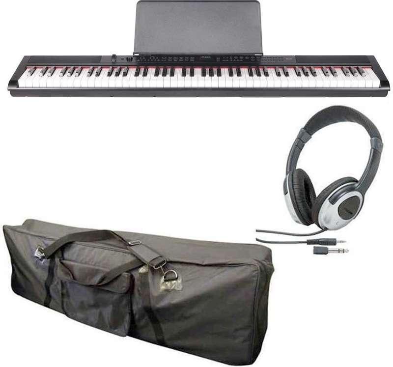 【送料無料】artesia PE-88/ケース+ヘッドホン付 ステージ・ピアノ セミ・ウエイト鍵盤 デジタルピアノ【smtb-TK】