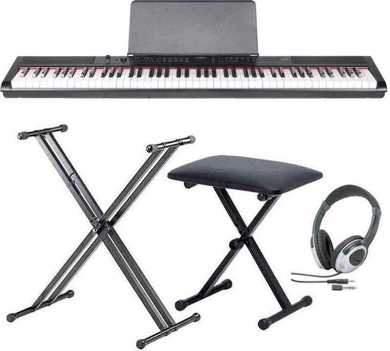 【送料無料】artesia PE-88/スタンド+ヘッドホン+イス付 ステージ・ピアノ セミ・ウエイト鍵盤 デジタルピアノ【smtb-TK】