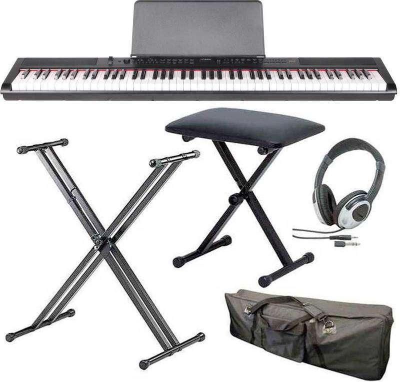【送料無料】artesia PE-88/スタンド+ヘッドホン+イス+ケース付 ステージ・ピアノ セミ・ウエイト鍵盤 デジタルピアノ【smtb-TK】