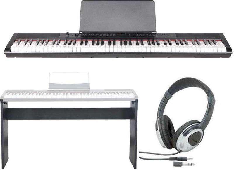 【送料無料】artesia PE-88/専用スタンド+ヘッドホン付 ステージ・ピアノ セミ・ウエイト鍵盤 デジタルピアノ【smtb-TK】
