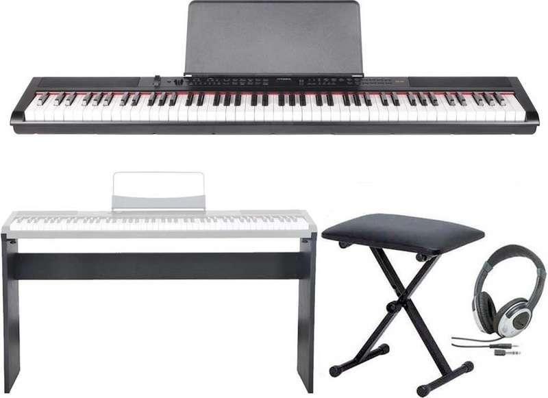 【送料無料】artesia PE-88/専用スタンド+ヘッドホン+イス付 ステージ・ピアノ セミ・ウエイト鍵盤 デジタルピアノ【smtb-TK】