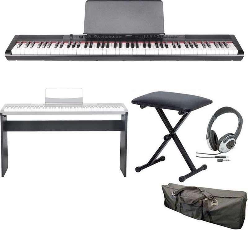 【送料無料】artesia PE-88/専用スタンド+ヘッドホン+イス+ケース付 ステージ・ピアノ セミ・ウエイト鍵盤 デジタルピアノ【smtb-TK】