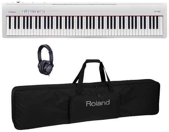 【送料無料】ローランド Roland FP-30-WH(専用スタンド/KSC-70+純正ヘッドホン/RH-5付) シンプルでスタイリッシュなデザインとポータビリティーが魅力のFP【smtb-TK】