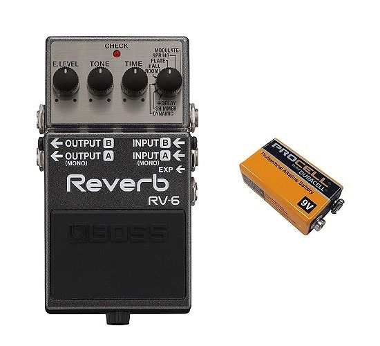 【送料無料】ボス BOSS RV-6(9V電池DURACELL PROCELL 006P付) Reverb クラスを越えた高音質リバーブ・ペダル【smtb-TK】