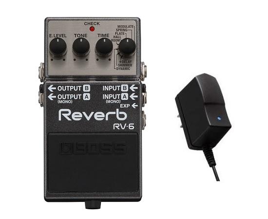 【送料無料】ボス BOSS RV-6(純正ACアダプター/PSA-100S2付) Reverb クラスを越えた高音質リバーブ・ペダル【smtb-TK】
