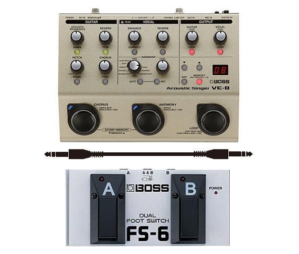 BOSS VE-8(フットスイッチ/FS-6+接続ケーブル付) ボス 弾き語りギタリストのためのオールインワン・ソリューション【smtb-TK】【送料無料】