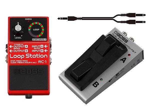 【送料無料】ボス BOSS RC-1+FS-7+ケーブル Loop Station+フットスイッチ【smtb-TK】