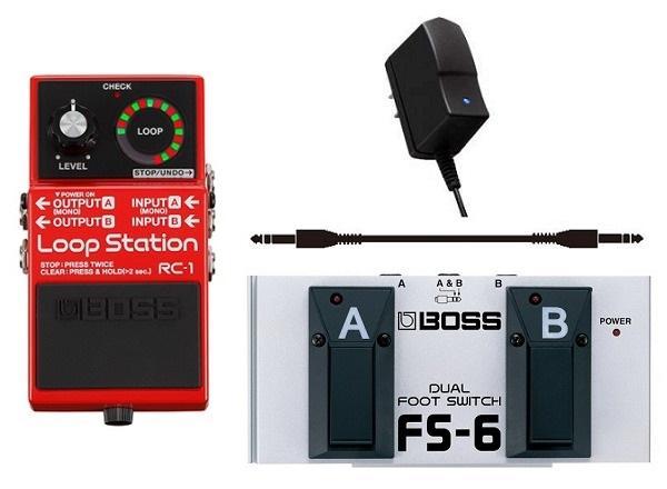 【送料無料】ボス BOSS RC-1(ACアダプター+フットスイッチ/FS-6+接続ケーブル付) Loop Station【smtb-TK】