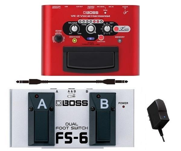 【送料無料】ボス BOSS VE-2(純正ACアダプター/PSA-100S2+フットスイッチ+接続ケーブル付) Vocal Harmonist【smtb-TK】