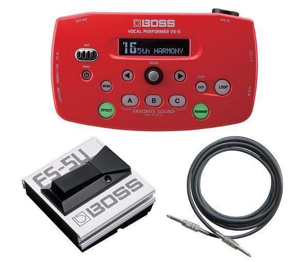 【送料無料】ボス BOSS VE-5-RD(フットスイッチ/FS-5U+接続ケーブル付)【smtb-TK】