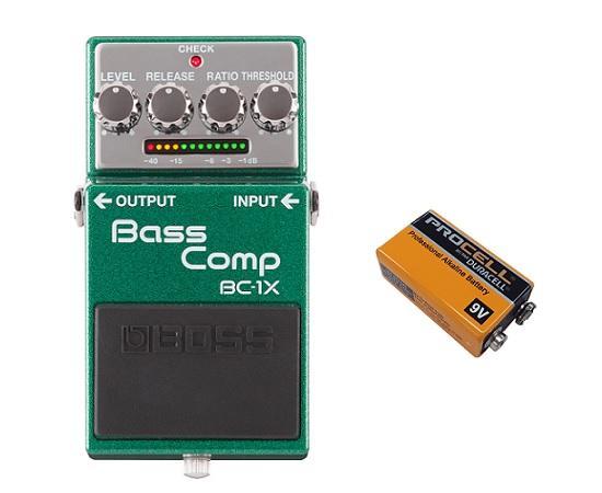 【送料無料】ボス BOSS BC-1X+9V電池(DURACELL PROCELL 006P) Bass Comp【smtb-TK】