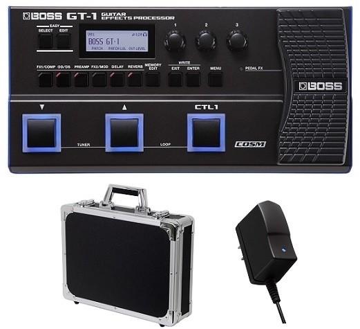 【送料無料】ボス BOSS GT-1+PSA-100S2+KC EC45BK(純正AC+ケース) 軽くてコンパクトなボディに凝縮したGT-100?【smtb-TK】