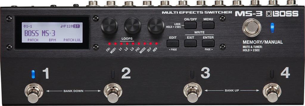 【送料無料】ボス BOSS MS-3(ACアダプター付属) Multi Effects Switcher スイッチャー 進化した統合型ペダルボード・ソリューション【smtb-TK】