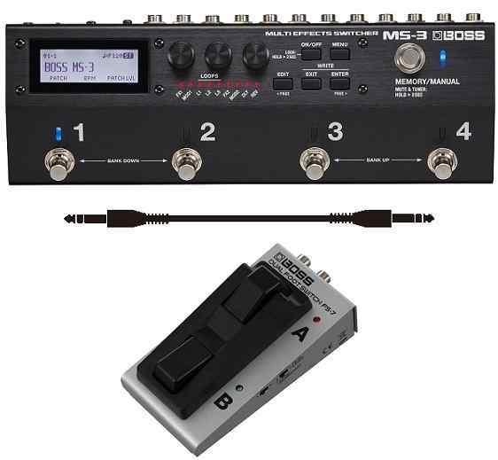 進化した統合型ペダルボード・ソリューション【smtb-TK】 【送料無料】ボス BOSS スイッチャー MS-3(フットスイッチ/FS-7+audio-technica製接続ケーブル付) Switcher Multi Effects