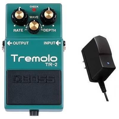 TR-2+PSA-100S2(純正ACアダプター) Tremolo BOSS 【送料無料】ボス ビンテージ・トレモロから過激な機関銃奏法まで【smtb-TK】