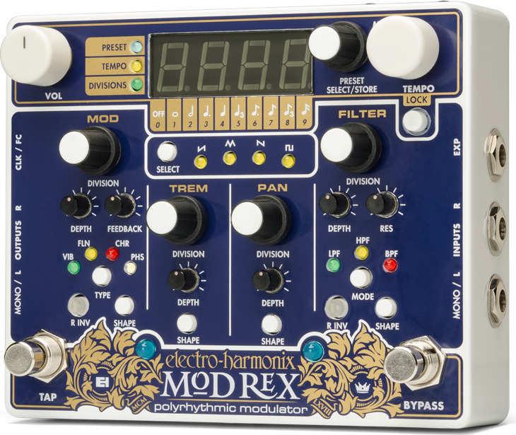 【送料無料】 ELECTRO HARMONIX Mod Rex Polyrhythmic modulator ポリリズミック・モジュレーター【smtb-TK】
