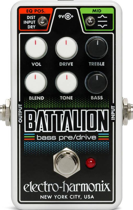 ELECTRO HARMONIX Nano Battalion Bass Preamp & Overdrive ベース用プリアンプ&オーバードライブ【送料無料】【smtb-TK】