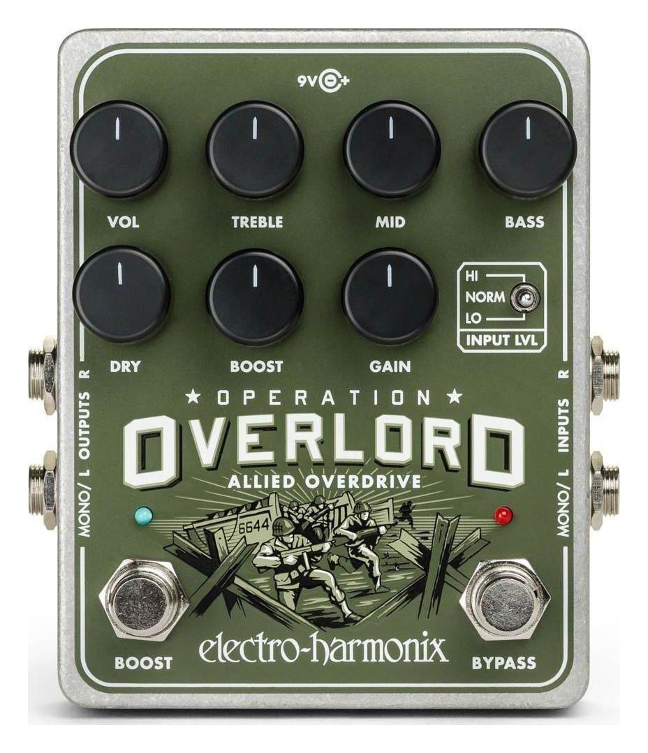 【送料無料】ELECTRO HARMONIX Operation Overlord Allied Overdrive ステレオ オーバードライブ【smtb-TK】