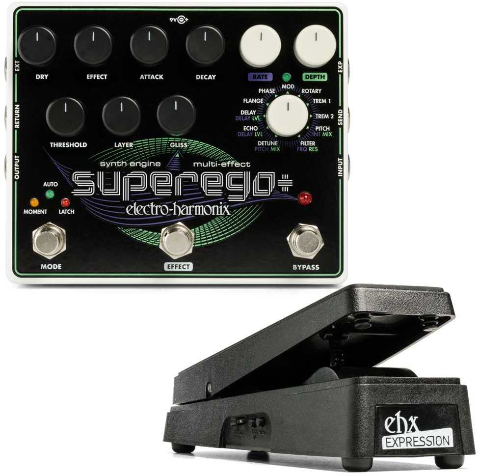 【送料無料】ELECTRO HARMONIX Superego Plus(Superego+)+純正エクスプレッションペダル Synth Engine / Multi Effect シンセエンジン / マルチエフェクト/国内正規品【smtb-TK】