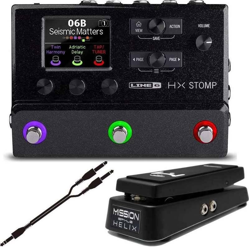 LINE6 HX STOMP/ペダルSP1-L6H+接続ケーブルATL484A/1.5付 マルチエフェクター 超コンパクト・プロフェッショナル・ギター・プロセッサー【smtb-TK】【送料無料】
