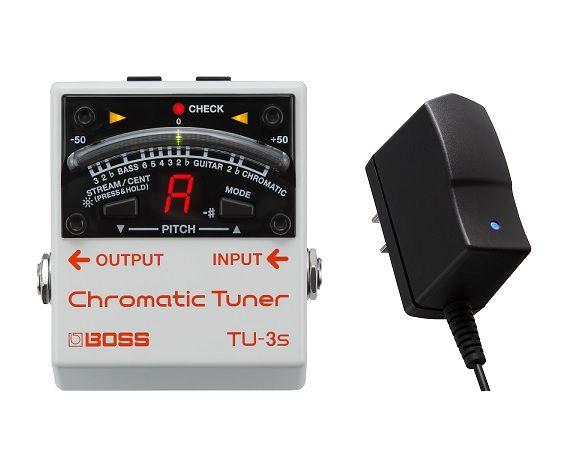 【送料無料】ボス BOSS TU-3S+PSA-100S2(純正ACアダプター) クロマチック・チューナー コンパクトなTU-3【smtb-TK】