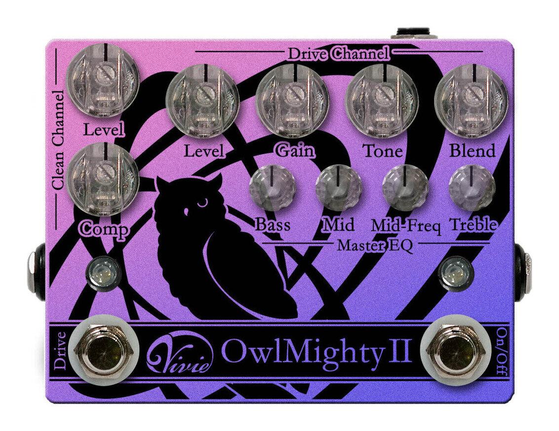 あす楽 Vivie 新作入荷 Owl MightyII ベース用 プリアンプ smtb-TK 有名な 送料無料 オーバードライブ