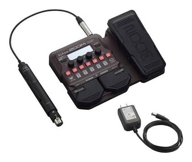 卓出 低価格化 限定ZOOMピック2枚付 ZOOM A1X FOUR 純正ACアダプター アコースティック楽器用エフェクツペダル AD-16付 smtb-TK 送料無料