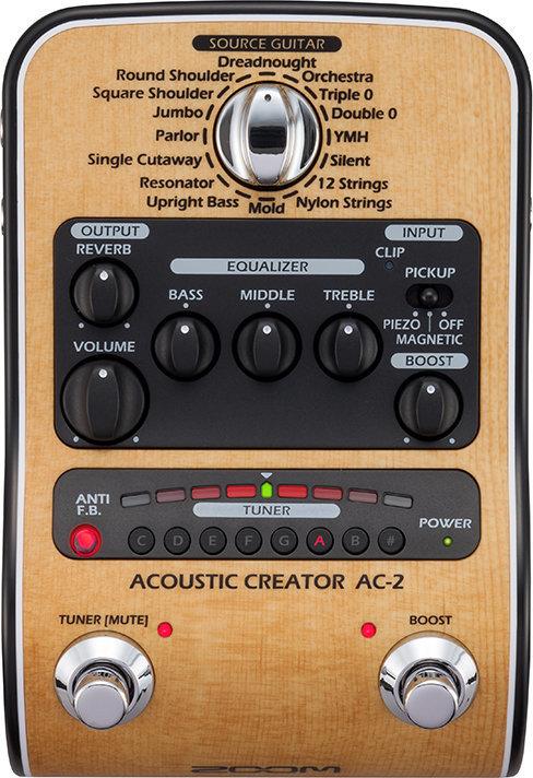 【限定ZOOMピック2枚付】【送料無料】ズーム ZOOM AC-2(ACアダプター付属) ピックアップで失われたボディ鳴りを再現 Acoustic Creator【smtb-TK】