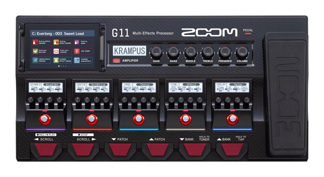 【限定ZOOMピック2枚付】ZOOM G11 DSP搭載モデリングマルチエフェクター【送料無料】【smtb-TK】