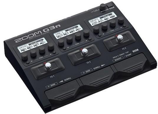【限定ZOOMピック2枚付】【送料無料】ズーム ZOOM G3n ギター用マルチエフェクツ・プロセッサー/計80アンプ/エフェクトモデル内蔵/ACアダプター付属【smtb-TK】