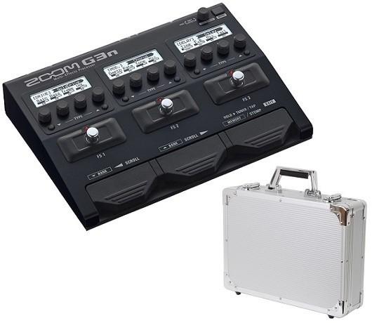 【限定ZOOMピック2枚付】【送料無料】ズーム ZOOM G3n+KC EC45SV(エフェクターケース) ギター用マルチエフェクツ・プロセッサー/計80アンプ/エフェクトモデル内蔵/ACアダプター付属【smtb-TK】