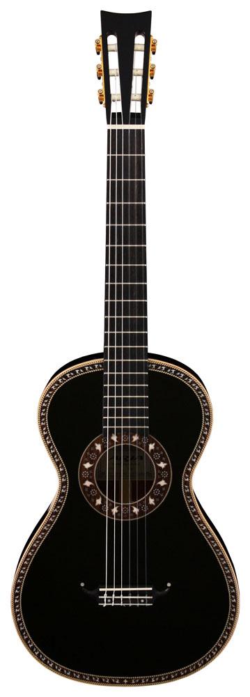 附带抒情曲ARIA A19C-200N/BK(专用的坚硬的盒子的)19世纪吉他/尼龙弦