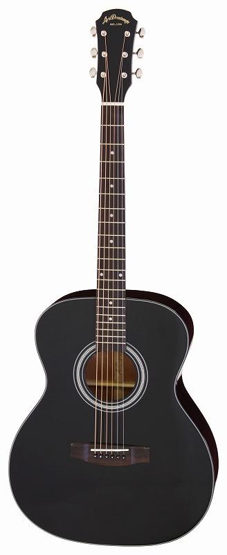 【送料無料】アリア ARIA AF-201 BK トップ単板 アコースティックギター/ケース付【smtb-TK】