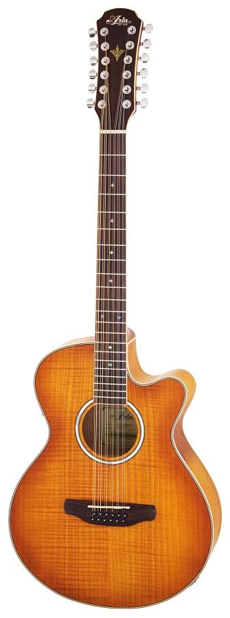 【送料無料】アリア Aria FET-12/SPL LVS 12弦ギター ピックアップ搭載 エレアコ ケース付【smtb-TK】
