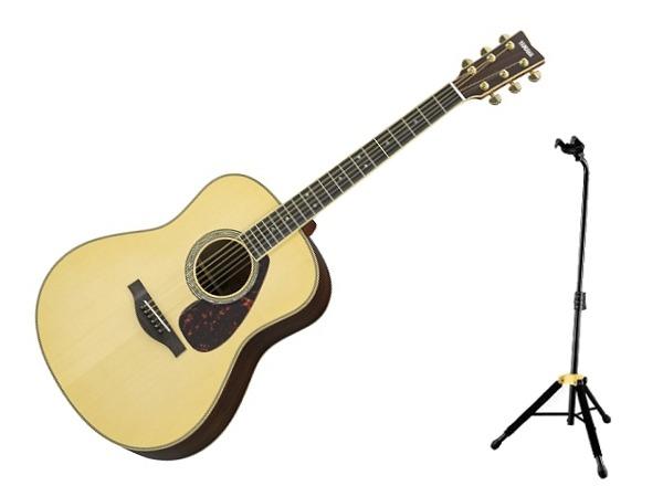 【送料無料】ヤマハ YAMAHA LL16 ARE/ナチュラル(ライトケース+HERCULESギタースタンド付) L16シリーズ パッシブタイプのピックアップにより高い演奏性を実現【smtb-TK】【代金引換不可】