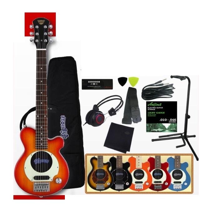 【送料無料】【全6色】ピグノーズ Pignose PGG-200/豪華10点セット スピーカー内蔵ミニギター【smtb-TK】