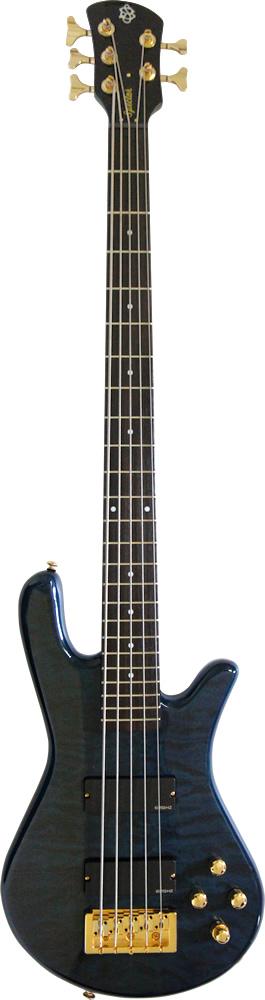 【ポイント2倍】【送料無料】Spector Legend 5 Custom/Black&Blue Gloss(ギグバッグ付)【smtb-TK】